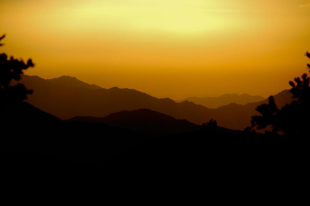Sunset in the Himalaya