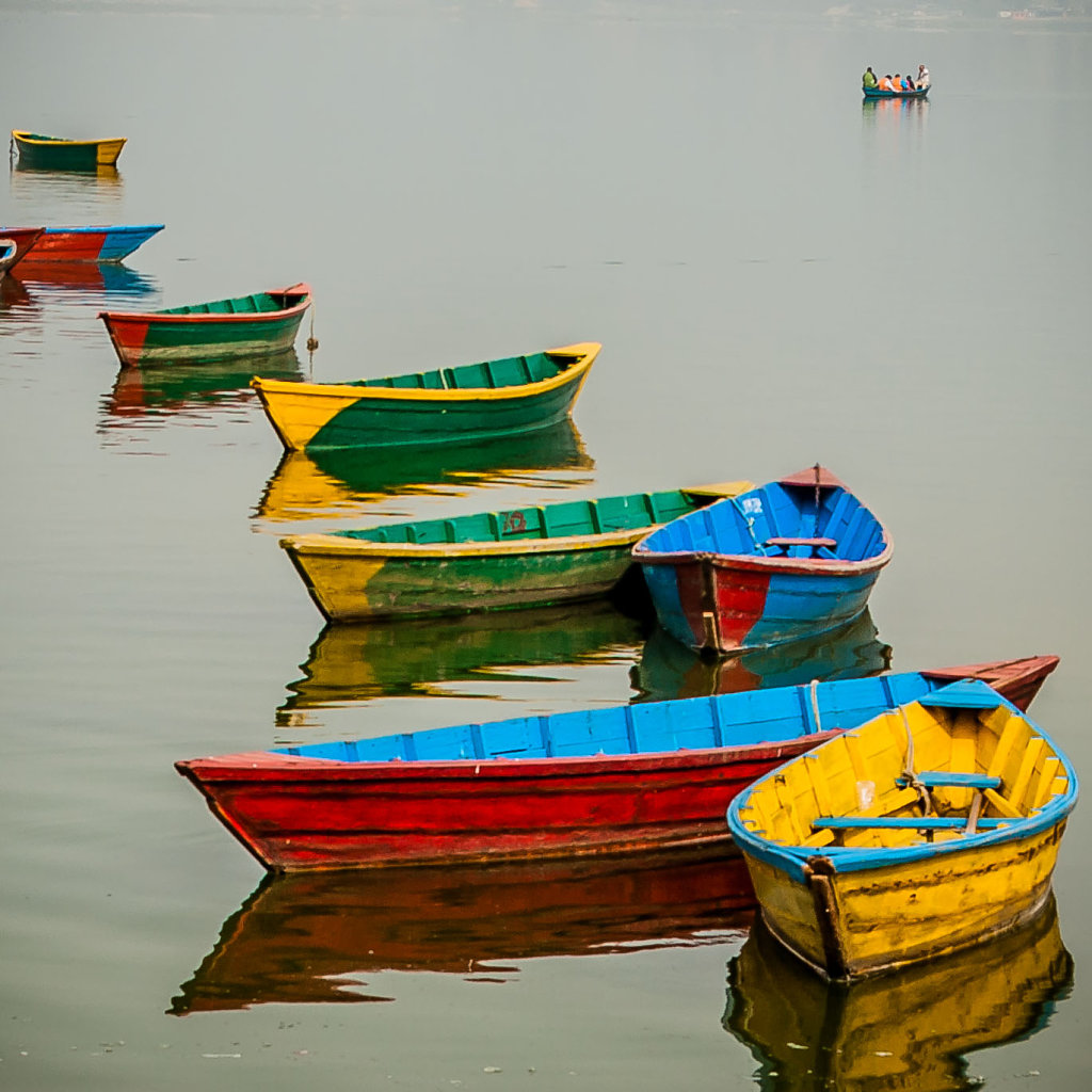 Boats on plewa lake